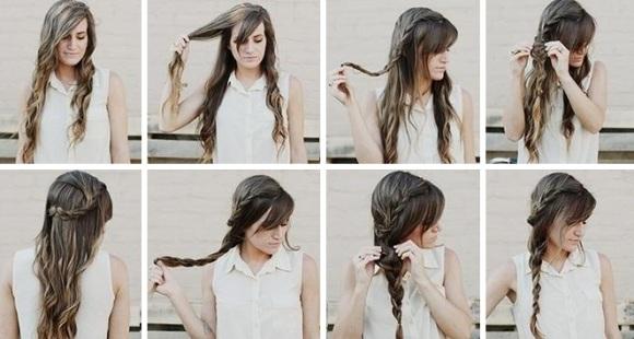 Прически на волнистые длинные волосы