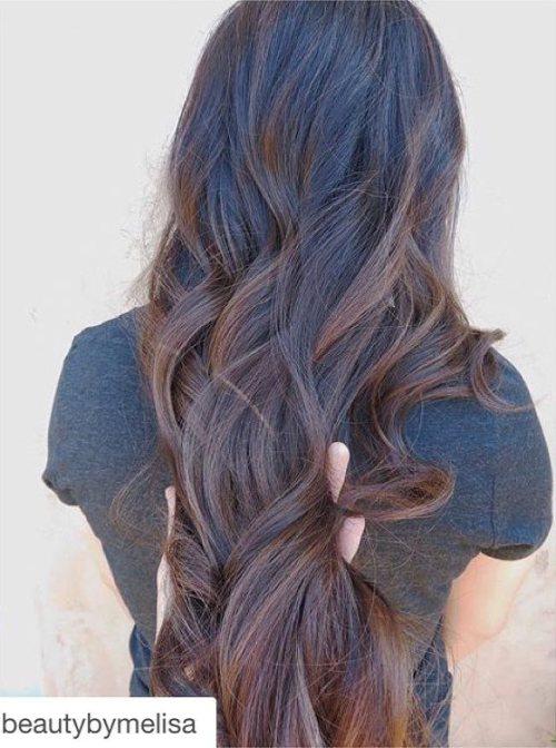 Балаяж на длинные волнистые волосы