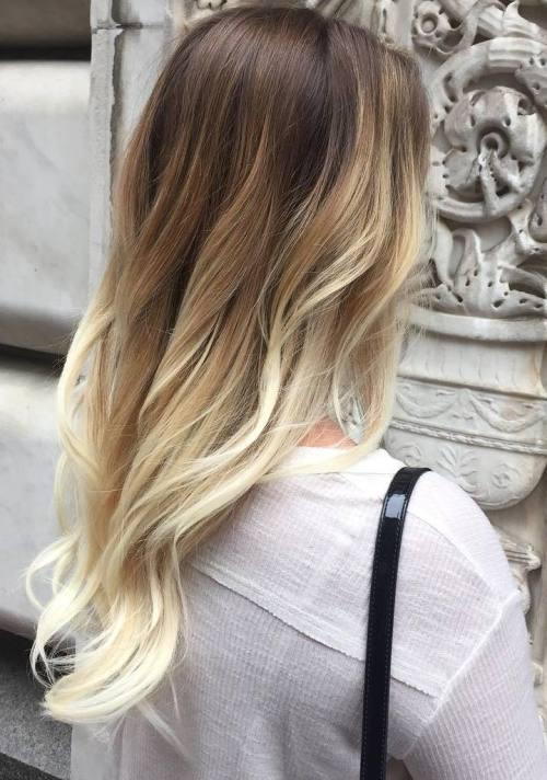 Золотой блонд балаяж