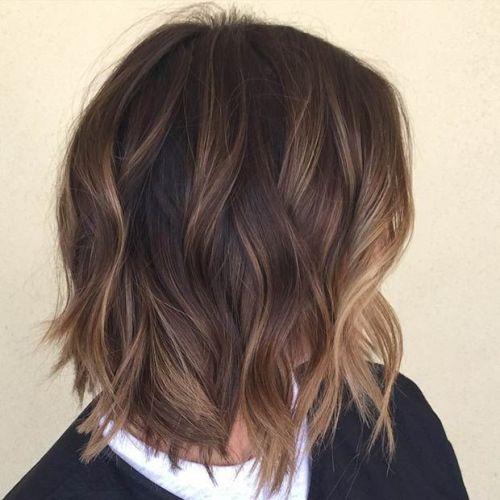 Балаяж на стрижке градуированный боб на короткие волосы
