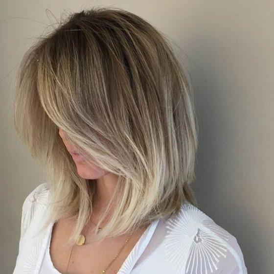 каскад на коротких волосах