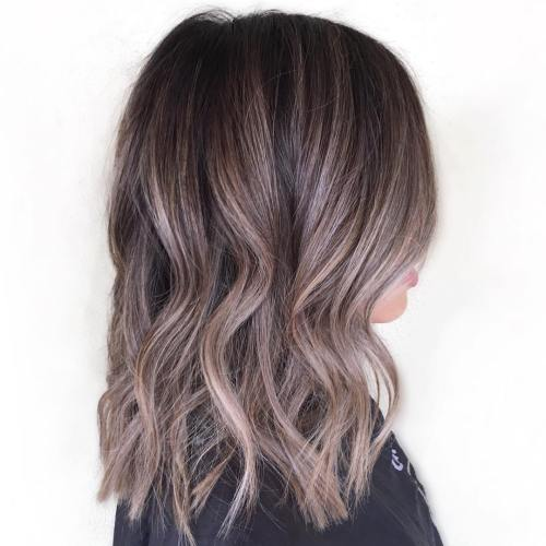 Шоколадные волосы с бликами