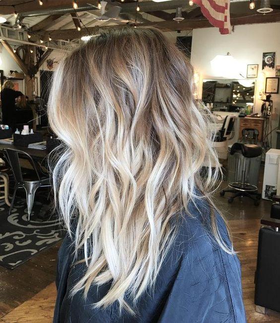 Идеи Балаяж на средние волосы