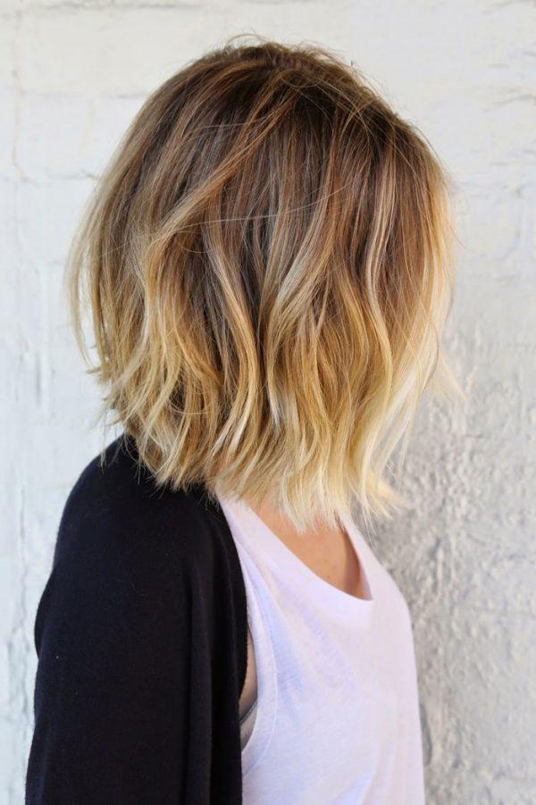 Балаяж омбре на короткие волосы