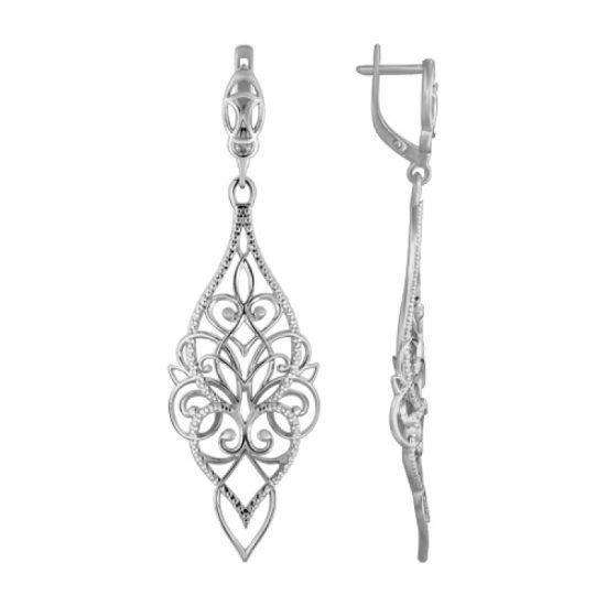 серебряные кружевные сережки