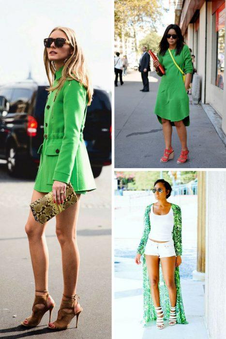 зеленый цвет в одежде 2018