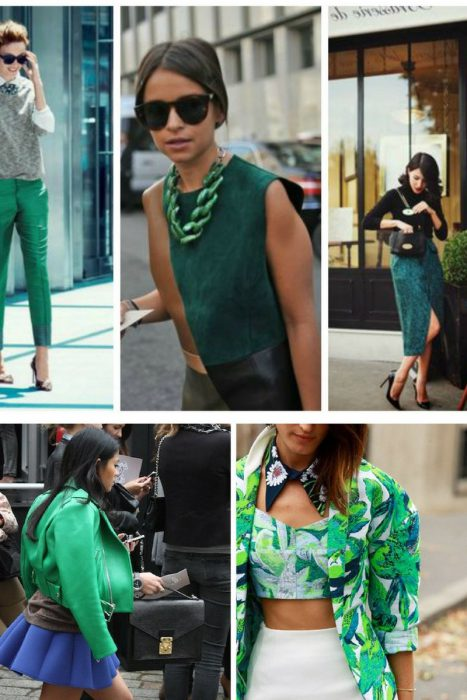 Сочетание зеленого в гардеробе: особенности выбора одежды