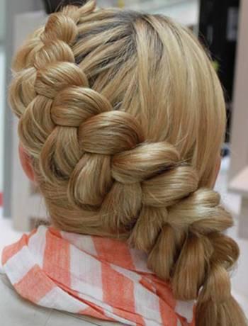 Плетение вокруг головы