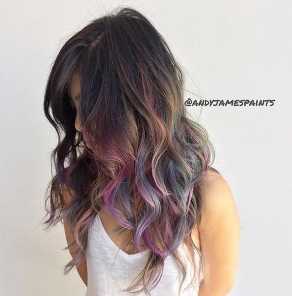 , цвет волос, вдохновение для цвета волос, каштановые волосы, черные волосы, цвет радужных волос, прическа