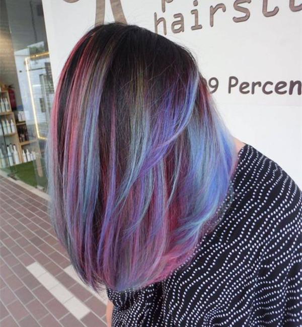 , яркие волосы, цвет волос, вдохновение цвета волос, каштановые волосы, черные волосы, цвет волос радуги, прическа