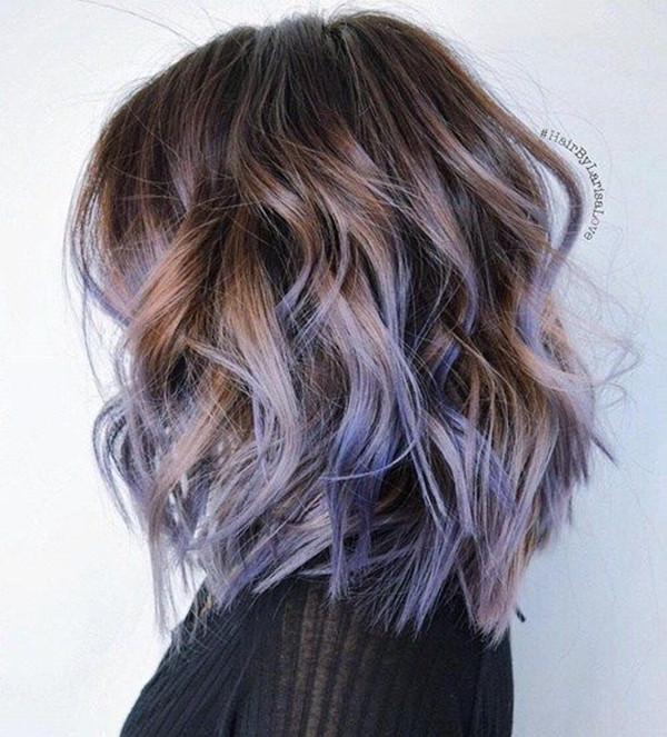 , яркие волосы, цвет волос, вдохновение для цвета волос, каштановые волосы, черные волосы, фиолетовый цвет волос, прическа, волосы лаванды, длинный боб, светлые волосы