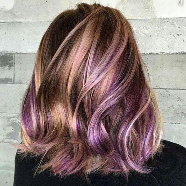 яркими волосами, цветом волос, вдохновением для цвета волос, каштановыми волосами, черными волосами, фиолетовым цветом волос, прической, волосами цвета лаванды, длинным бобом, светлыми волосами.