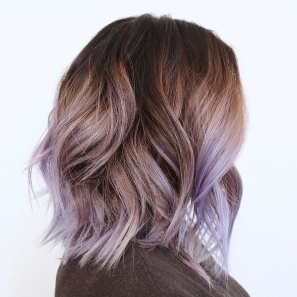 красочные волосы, цвет волос, вдохновение для цвета волос, каштановые волосы, черные волосы, фиолетовый цвет волос, прическа, волосы лаванды, длинный боб, светлые волосы
